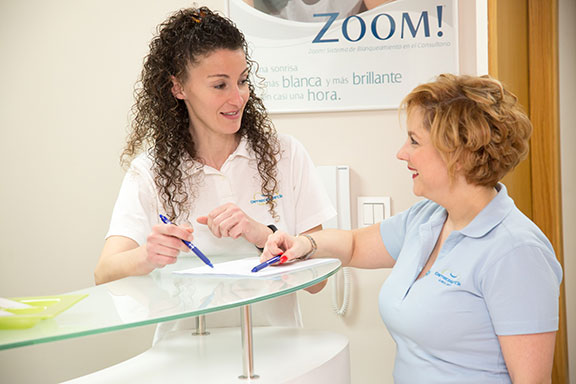 recepción clinica dental